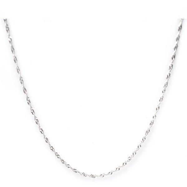 De Buman High-polish Sterling Silver Singapore Chain (1.22 mm)