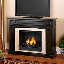 Rutherford Real Flame Dark Walnut Ventless Gel Fireplace