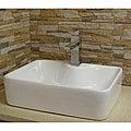 Somette Modern Vitreous-China White Vessel Sink