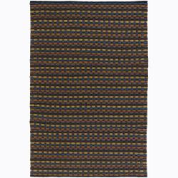 Handwoven Multicolor Mandara New Zealand Wool Rug (9' x 13')