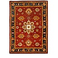 Modern Hand-Tufted Tempest Red/Black Area Rug (8' x 11')