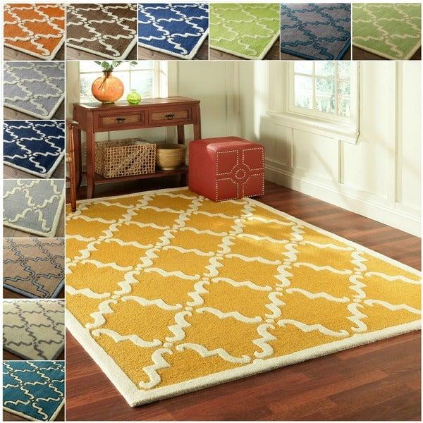 nuLOOM Handmade Luna Marrakesh Trellis Wool Rug (7'6 x 9'6)