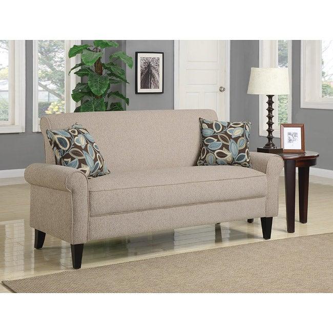 Portfolio Harper Cream Chenille Rounded Arm Sofa