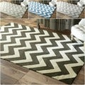 Handmade Luna Easy Care Chevron Rug (5' x 8')