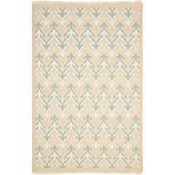 Sumak Flatweave Heirloom Beige Wool Rug (4 x 6)