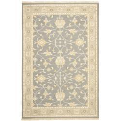 Sumak Flatweave Heirloom Grey Wool Rug (4 x 6)