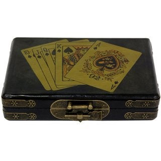 Black Lacquer Playing Card Set Box (China)