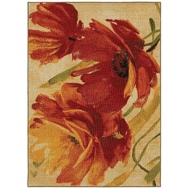 Flamboyant Orange Multicolor Rug (5' x 7')