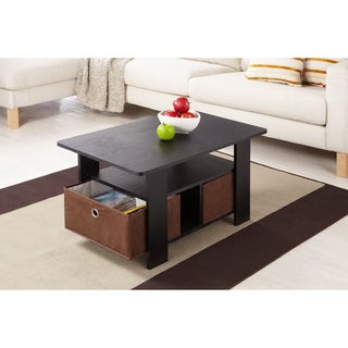 Furniture of America Fresno Collection Coffee Table with Removable Fabric Storage Box