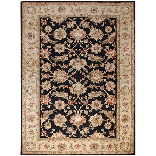 Hand-tufted Black Wool Area Rug (10' x 14')