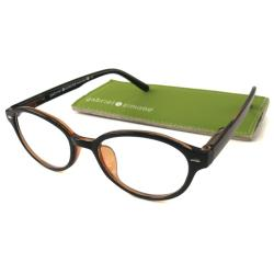 Gabriel+Simone Women's 'Mademoiselle' Round Black Reading Glasses