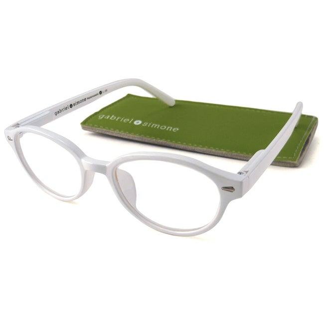 Gabriel+Simone Women's 'Mademoiselle' Round White Reading Glasses