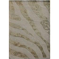 Hand-tufted Gray Wool Area Rug (8' x 11')