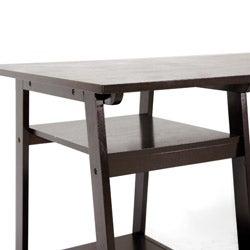Mott Dark Brown Wood Modern Desk with Sawhorse Legs (Large)