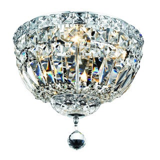 Somette Chrome Four-light Flush Mount Fixture