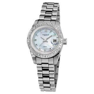 Akribos XXIV Women's Diamond Quartz Water-Resistant Bracelet Watch