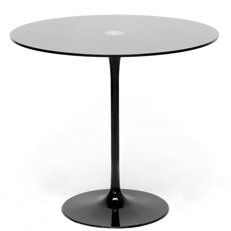 Odensa Black Glass Modern Bistro Table