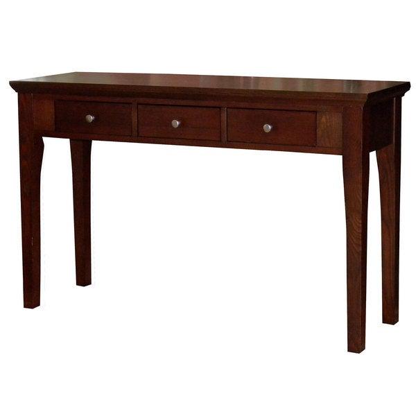 Fraser Three-Drawer Mahogany Console/Sofa Table