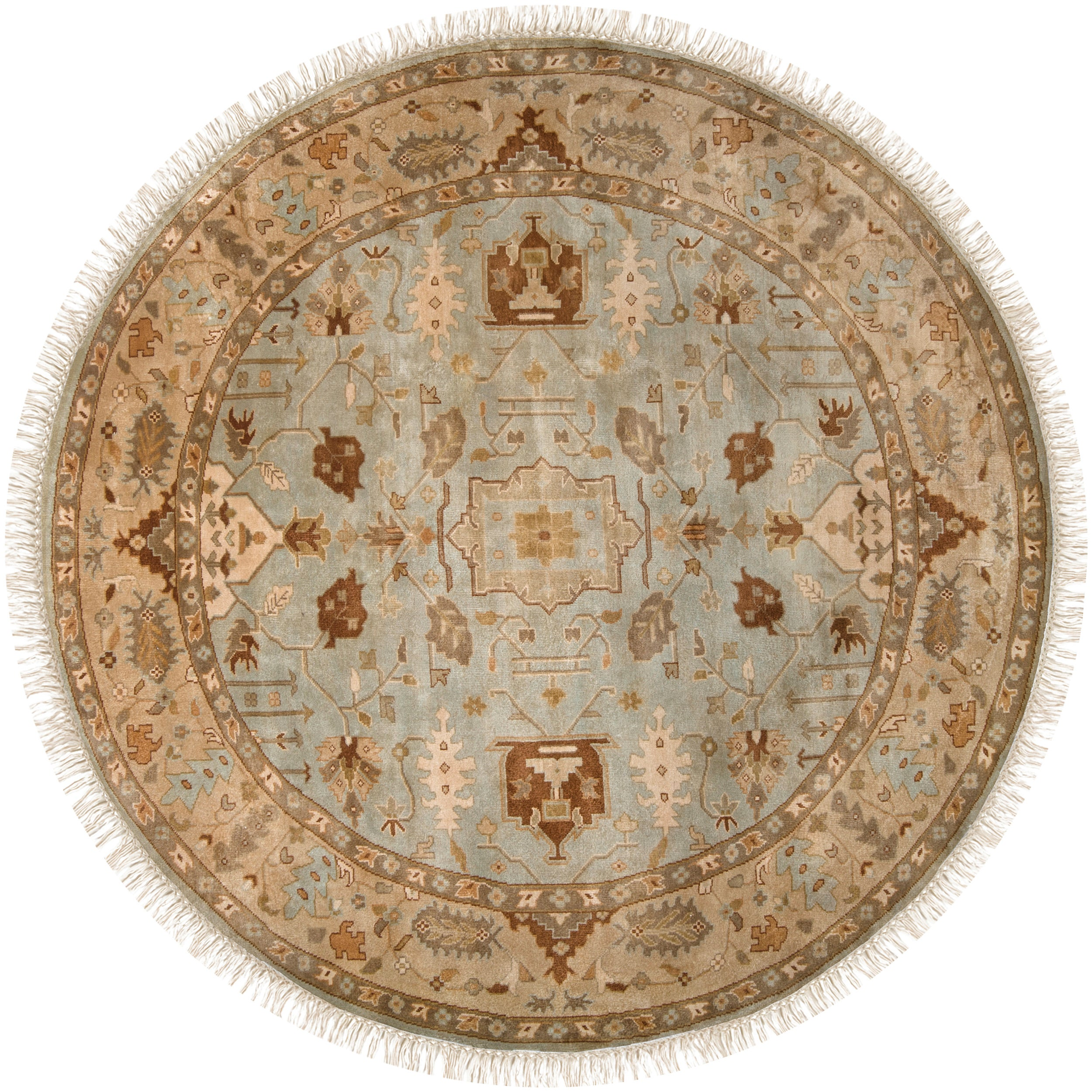 Hand Knotted Glasgow Semi Worsted New Zealand Wool Rug 8