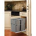 Rev-A-Shelf Silver Double 35-quart Waste Container