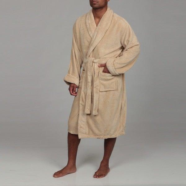 Woven Workz Unisex 'Boston' Camel Microfiber Bath Robe