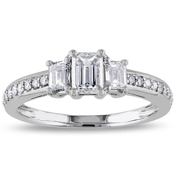 Miadora 14k White Gold 1ct TDW IGL-certified Diamond Ring (G-H, I1 I2)