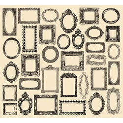 7 Gypsies 'Creme Frames' Tissue Paper