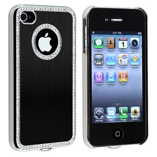 Bling Luxury Black Snap-on Case for Apple iPhone 4/ 4S