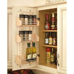 Rev-A-Shelf Small Adjustable Door Mount Spice Rack