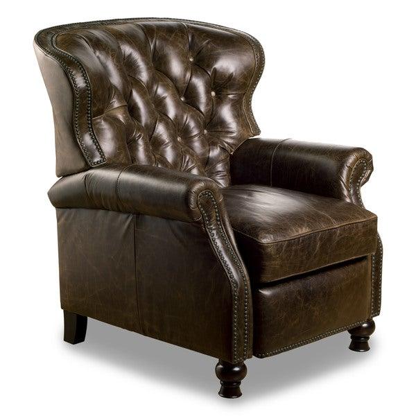 Cambridge Leather Recliner in Chaps Havana Brown