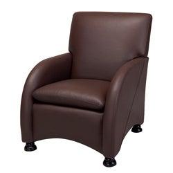 Lorenzo Coffee Brown Leather Club Chair