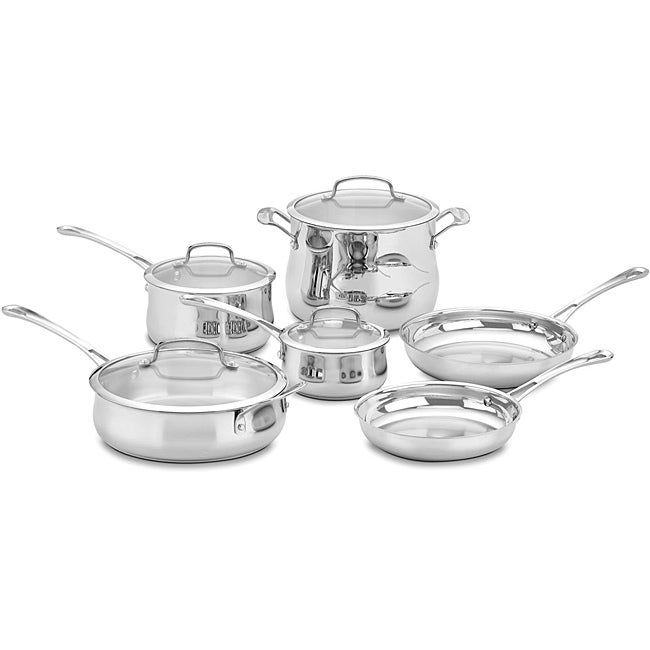 Cuisinart 44-10 Contour Stainless Steel 10-Piece Cookware Set