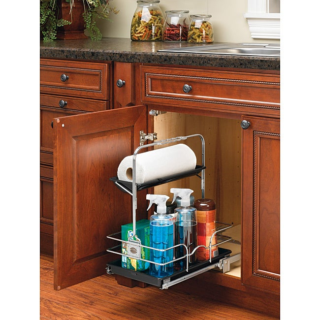 Kitchen Cabinet Cleaners: Rev-A-Shelf 544-10C-1 Chrome Cleaning Caddy