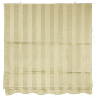 Striped Cotton-blend Roman-style Window Shade (60 inches x 72 inches) (China)