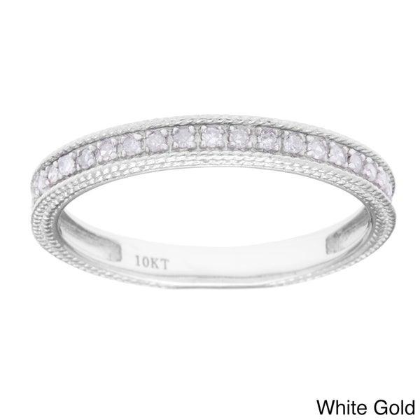 10k White Gold 1/6ct TDW Diamond Wedding Band (G-H, I1-I2)