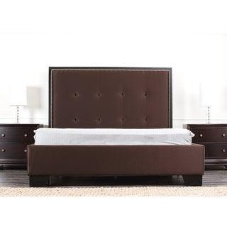 ABBYSON LIVING Metropolitan Dark Brown Fabric King-size Platform Bed