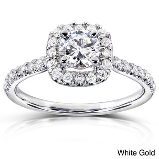 14k Gold 3/4 ct TDW Diamond Halo Engagement Ring (H-I, I1-I2)