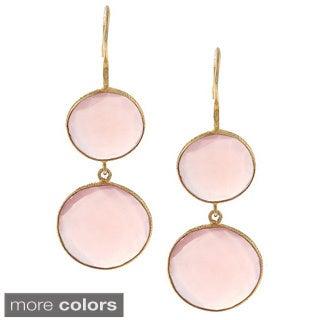 M by Miadora 22k Yellow Gold Overlay Gemstone Dangle Earrings (40ct TGW)