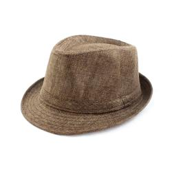 Faddism Brown Band Detail Fedora Hat
