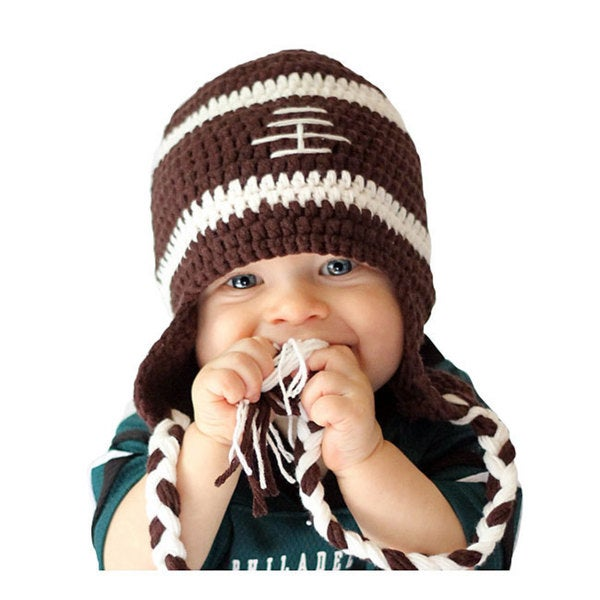 Knitnut by JL Child's Cotton Crocheted Football Hat
