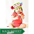 Knitnut by JL Child's Cotton Crocheted Rainbow Embroidered Sock Monkey Hat