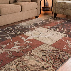 Safavieh Timeless Fashion Scrolls Extra Fine Rust Rug (8' x 10')