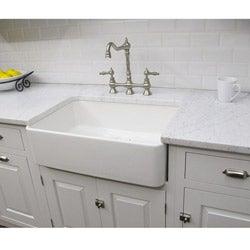 Somette Fireclay Butler Large 29.5-inch Kitchen Sink