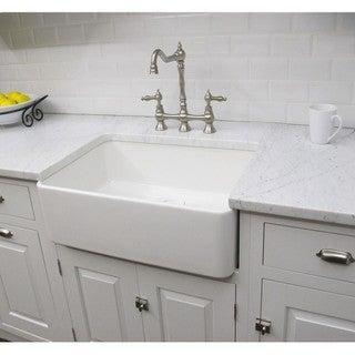 Fireclay Sutton 23.25-inch White Farmhouse Kitchen Sink