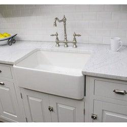 Somette Fireclay Sutton 23.25-inch White Farmhouse Kitchen Sink
