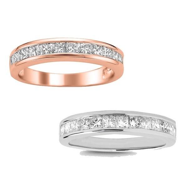 14k White Gold 1ct TDW Diamond Wedding Band (I-J, I2-I3)