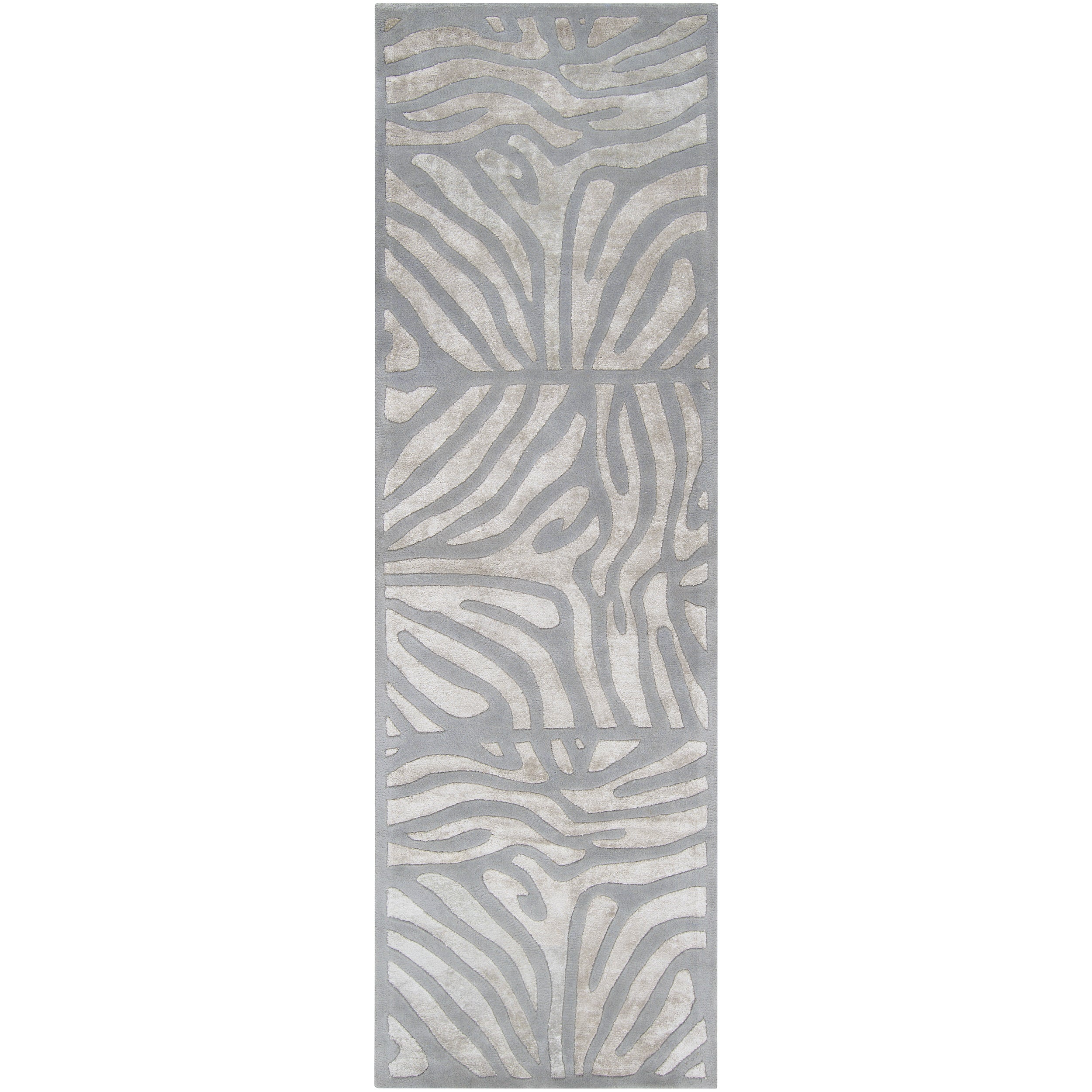 Candice Olson Hand-tufted Grey Zebra Animal Print Dali