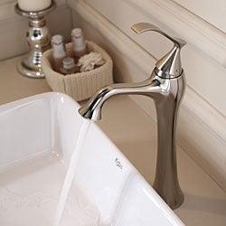 Kraus Bathroom Combo Set White Rectangular Ceramic Sink/Ventus Faucet