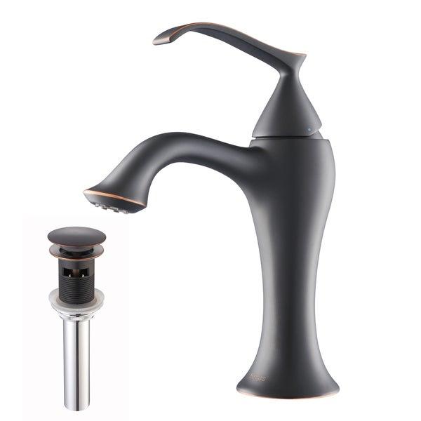 Kraus Ventus Single Lever Bas-inch Faucet/ Pop Up Drain Oil withOverflow