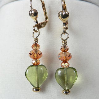 'Olivia' Heart Earrings
